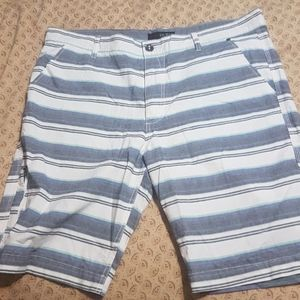 Men's Guess striped casual shorts
